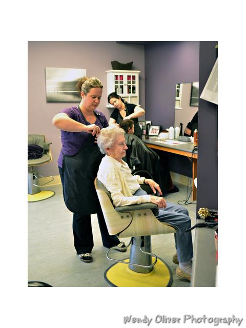 On site hair salon