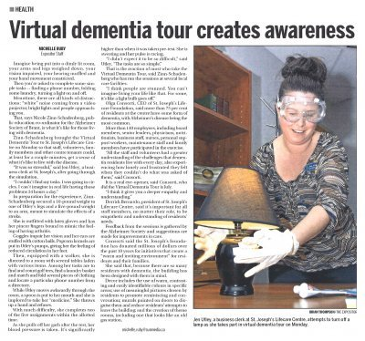 Virtual Dementia Tour Creates Awareness - Expositor; Nov 17, 2015
